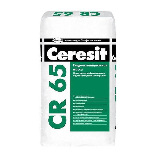 Фото товару - Гідроізоляційна суміш Ceresit CR-65 25 кг