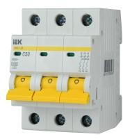 Автоматичний вимикач ІЕК  ВА 47-29М 3Р 50А С