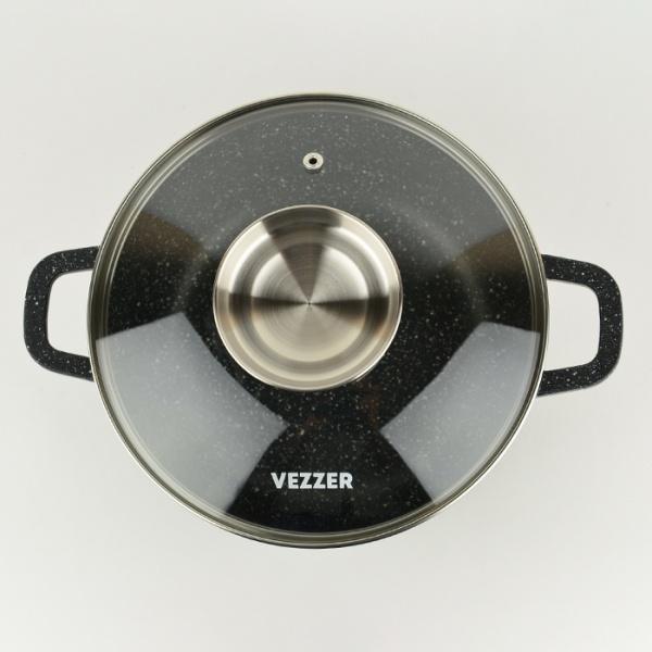 Каструля з антипригарним покриттям з кришкою 3,5 л Vezzer VZ8005 - фото товару 3