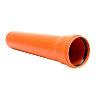 Труба для зовнішньої каналізації ПВХ 200х3,9 /0,5м/ ІНСТАЛПЛАСТ