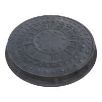 Люк каналіз. круглий 1,5т чорний