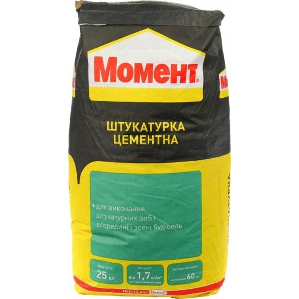 Фото товару - Штукатурка Момент цементна 25 кг