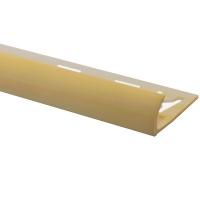 Профіль зовнішній ОМІС для плитки № 5 слонова кістка 8 мм 2,5 м