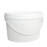 Відро д/соління з кришкою овальне біле 5,6л