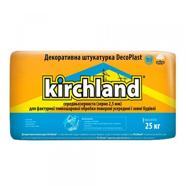 Фото товару - Декоративна штукатурка KIRCHLAND Deco Plast 25кг