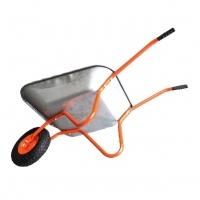 Фото товару - BUDFIX Тачка одноколісна WB6407B садова оранж 65л 110кг