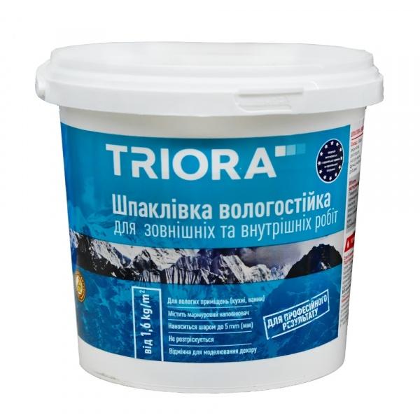 Фото товару - Шпаклівка TRIORA вологостійка акрилова 0,8кг