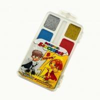 Краски акварельные медовые Молния Тетрада 8 цветов