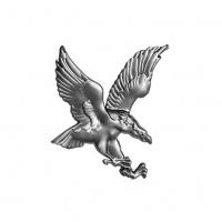 Орел штампований Артдеко 200х175х1,2 лівий