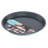 Форма для выпекания ARDESTO круглая Tasty baking, 30х3см, серый/голубой