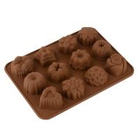 Форма для выпекания печенья Vincent на 12шт, силикон, 21,5х16,0х2,5см