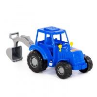 """Трактор """"Майстер"""" з ковшем, синій 84873"""