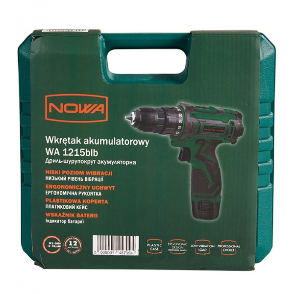 Дриль-шурупокрут акумуляторний NOWA WA1215blb - фото товару 5